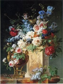 unknow artist Floral, beautiful classical still life of flowers.044