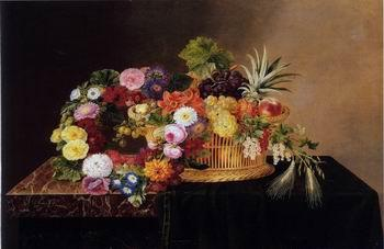unknow artist Floral, beautiful classical still life of flowers.094