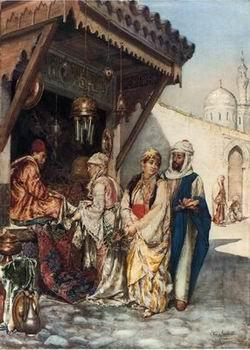 unknow artist Arab or Arabic people and life. Orientalism oil paintings 596