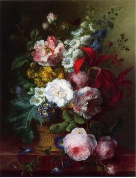 unknow artist Floral, beautiful classical still life of flowers.134