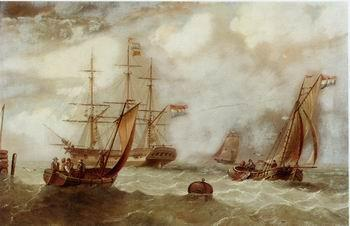 unknow artist Seascape, boats, ships and warships.49