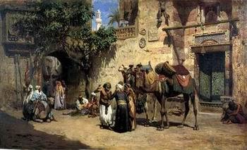 unknow artist Arab or Arabic people and life. Orientalism oil paintings 38