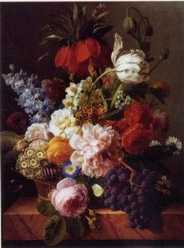 unknow artist Floral, beautiful classical still life of flowers 012