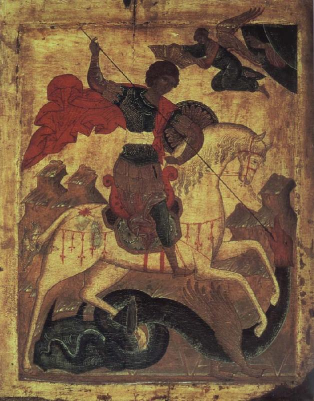 unknow artist The holy Georg and the dragon
