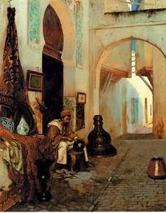 unknow artist Arab or Arabic people and life. Orientalism oil paintings 199