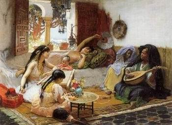 unknow artist Arab or Arabic people and life. Orientalism oil paintings  335