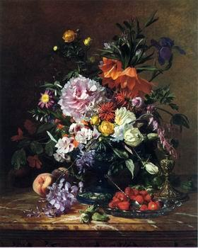 unknow artist Floral, beautiful classical still life of flowers.114