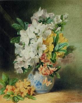 unknow artist Floral, beautiful classical still life of flowers.035