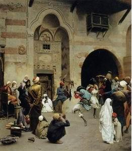 unknow artist Arab or Arabic people and life. Orientalism oil paintings 176