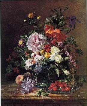 unknow artist Floral, beautiful classical still life of flowers 06