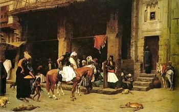 unknow artist Arab or Arabic people and life. Orientalism oil paintings  455