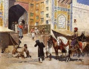 unknow artist Arab or Arabic people and life. Orientalism oil paintings  283