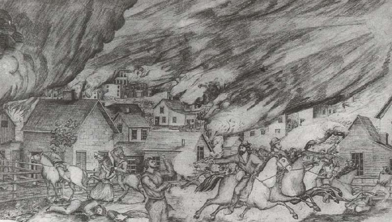 unknow artist Quantrill-s Raid on Lawrence,August 21