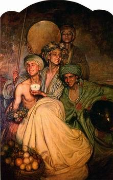unknow artist Arab or Arabic people and life. Orientalism oil paintings  543