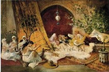 unknow artist Arab or Arabic people and life. Orientalism oil paintings  308