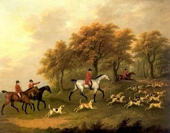 unknow artist Classical hunting fox, Equestrian and Beautiful Horses, 072.