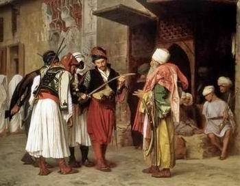 unknow artist Arab or Arabic people and life. Orientalism oil paintings  304