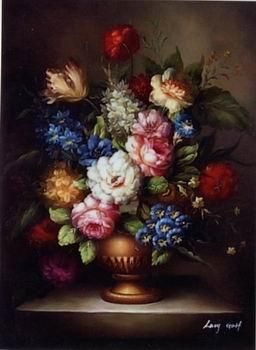 unknow artist Floral, beautiful classical still life of flowers.060 oil painting image