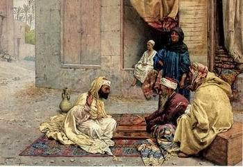 unknow artist Arab or Arabic people and life. Orientalism oil paintings 192
