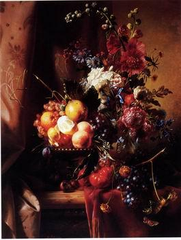 unknow artist Floral, beautiful classical still life of flowers.108