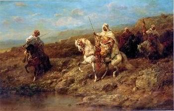 unknow artist Arab or Arabic people and life. Orientalism oil paintings 191