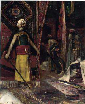 unknow artist Arab or Arabic people and life. Orientalism oil paintings  385