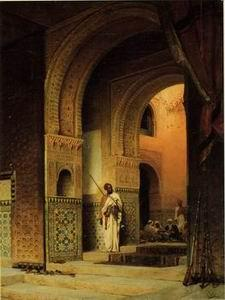 unknow artist Arab or Arabic people and life. Orientalism oil paintings 173