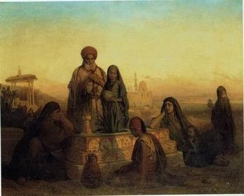 unknow artist Arab or Arabic people and life. Orientalism oil paintings 183