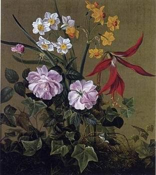 unknow artist Floral, beautiful classical still life of flowers 013
