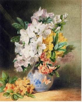 unknow artist Floral, beautiful classical still life of flowers.031