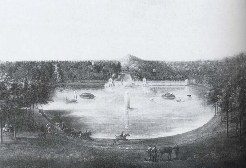unknow artist View of the Lower lake at Studley Royal