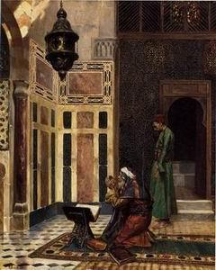 unknow artist Arab or Arabic people and life. Orientalism oil paintings 44