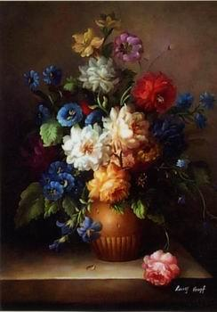unknow artist Floral, beautiful classical still life of flowers.087