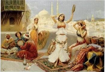 unknow artist Arab or Arabic people and life. Orientalism oil paintings 126