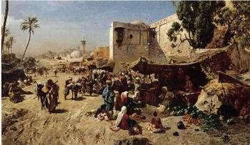 unknow artist Arab or Arabic people and life. Orientalism oil paintings 153