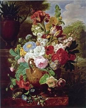 unknow artist Floral, beautiful classical still life of flowers.042