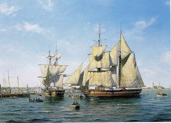 unknow artist Seascape, boats, ships and warships. 112