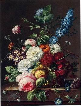 unknow artist Floral, beautiful classical still life of flowers 08