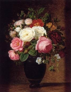 unknow artist Floral, beautiful classical still life of flowers.039
