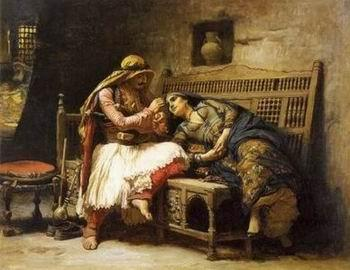 unknow artist Arab or Arabic people and life. Orientalism oil paintings  341