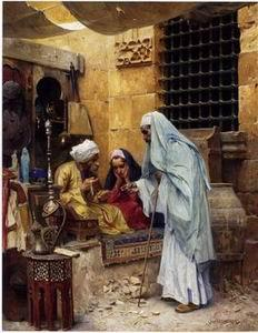 unknow artist Arab or Arabic people and life. Orientalism oil paintings 167