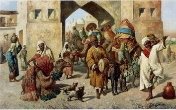 unknow artist Arab or Arabic people and life. Orientalism oil paintings 134