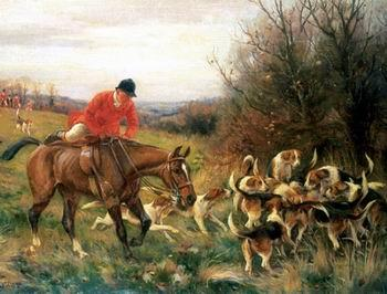 unknow artist Classical hunting fox, Equestrian and Beautiful Horses, 199.