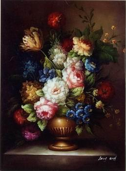 unknow artist Floral, beautiful classical still life of flowers.051
