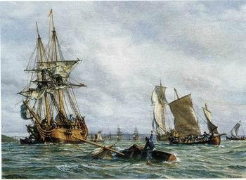 unknow artist Seascape, boats, ships and warships. 117
