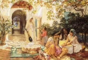 unknow artist Arab or Arabic people and life. Orientalism oil paintings  336