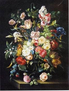 unknow artist Floral, beautiful classical still life of flowers 010