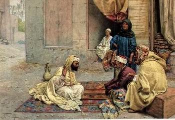 unknow artist Arab or Arabic people and life. Orientalism oil paintings 17