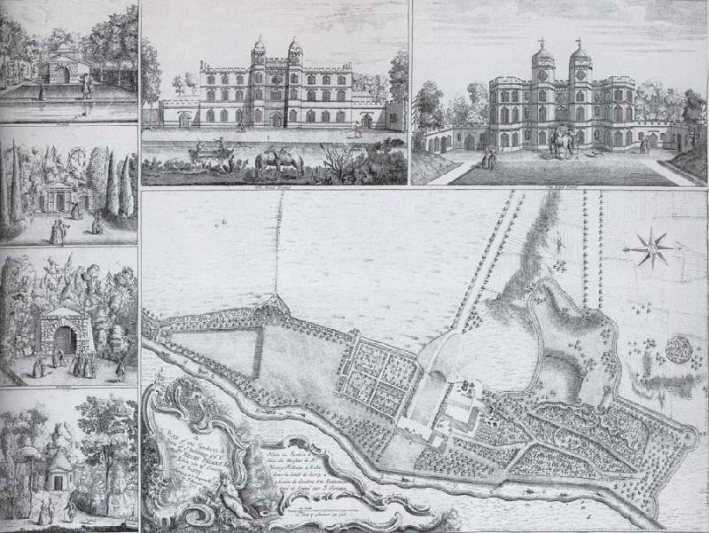 unknow artist Plan and views of Esher