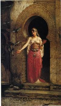 unknow artist Arab or Arabic people and life. Orientalism oil paintings 448